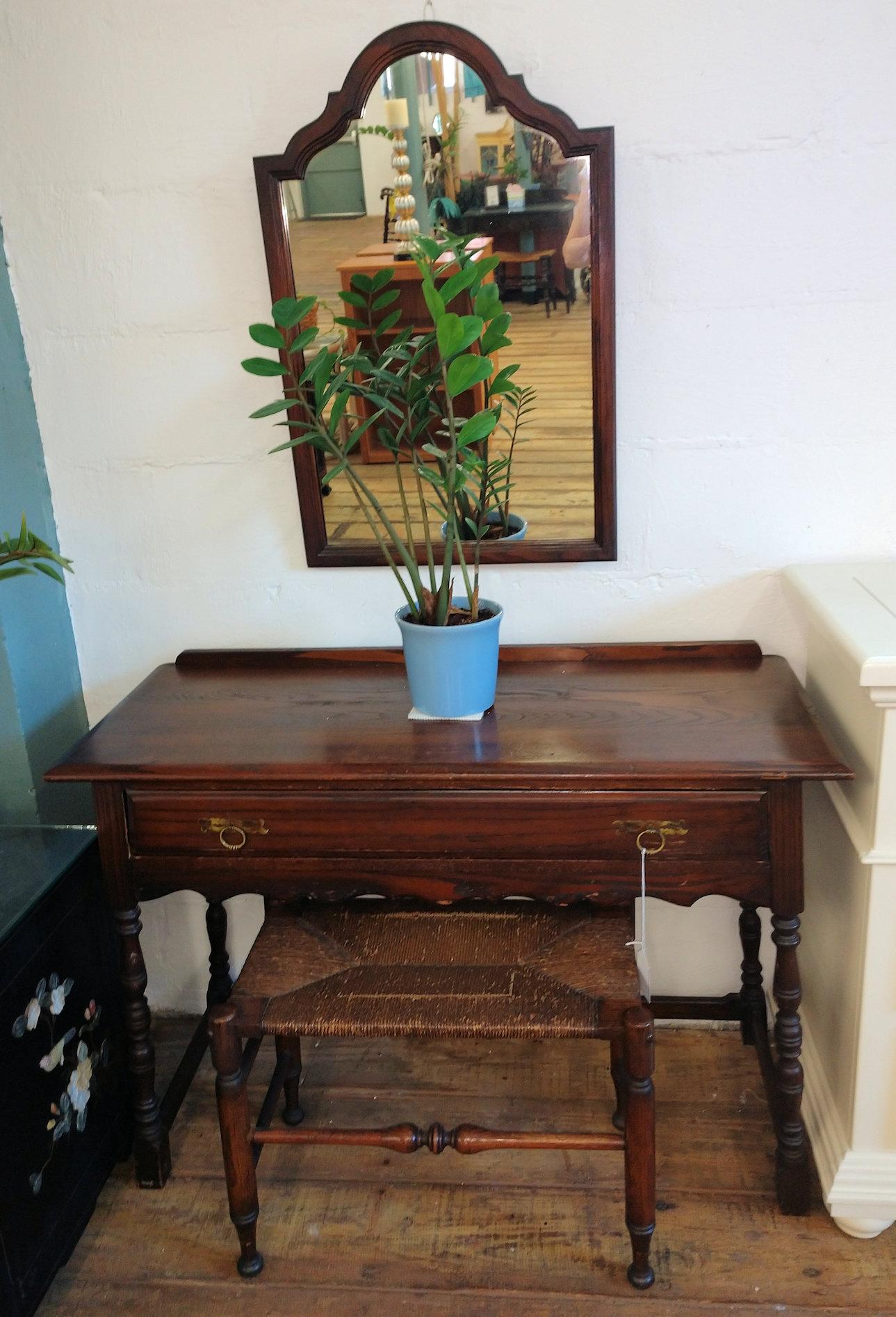 BR0104-Mahogany-Vanity-mirror-stool