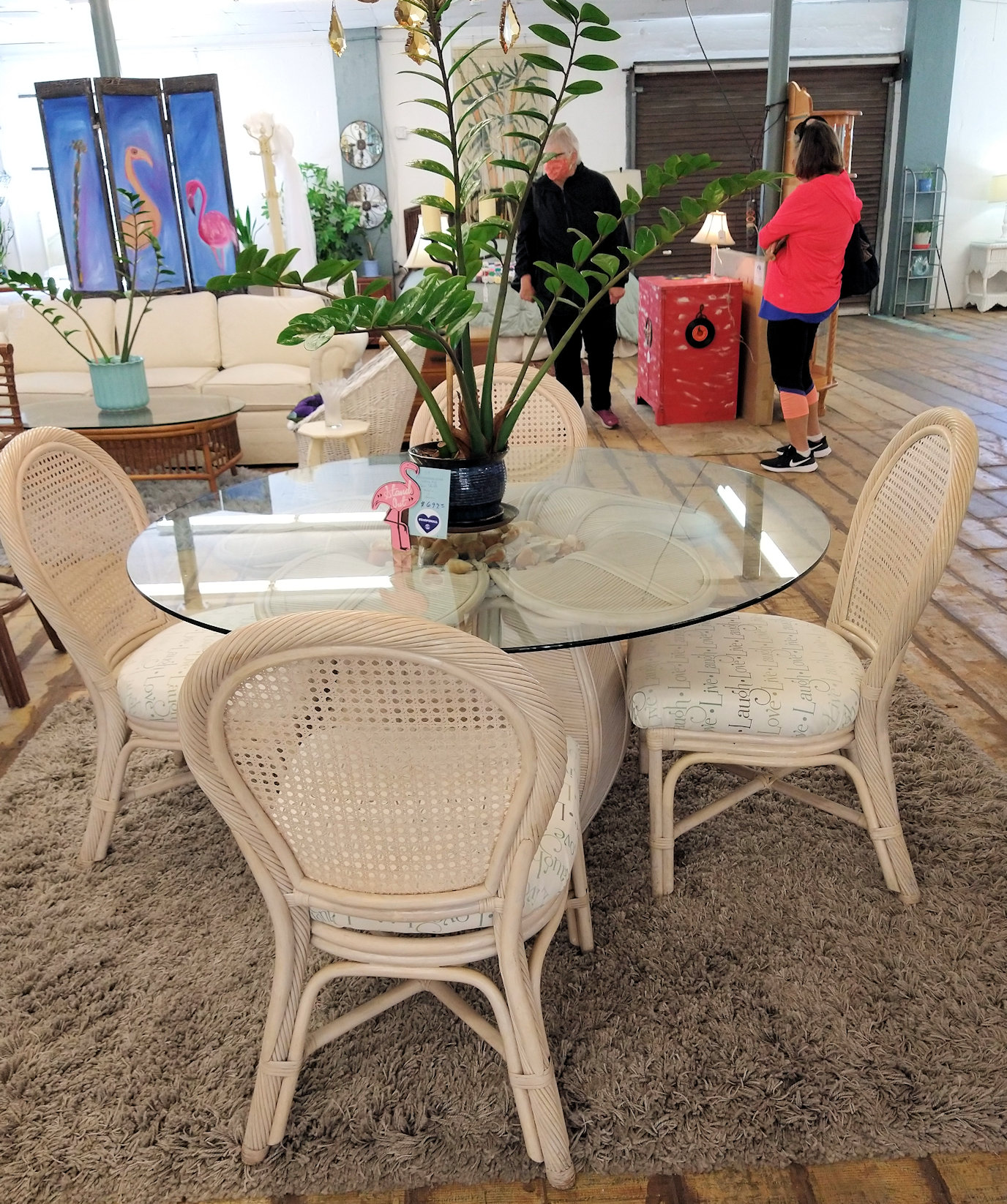 DR0088-Rattan-GlasstopTable-4chairs