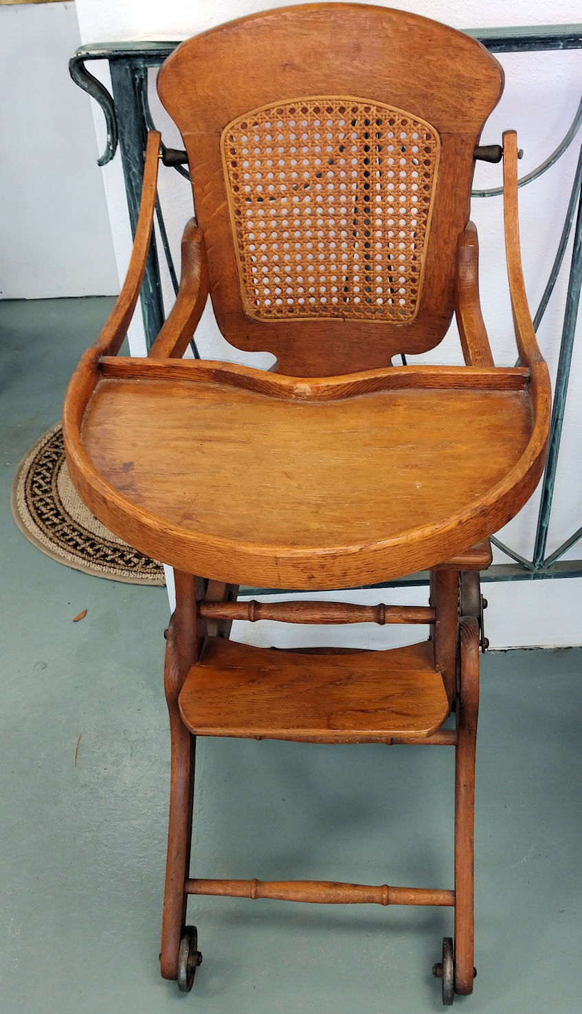 - Baby High Chair - Antique Oak