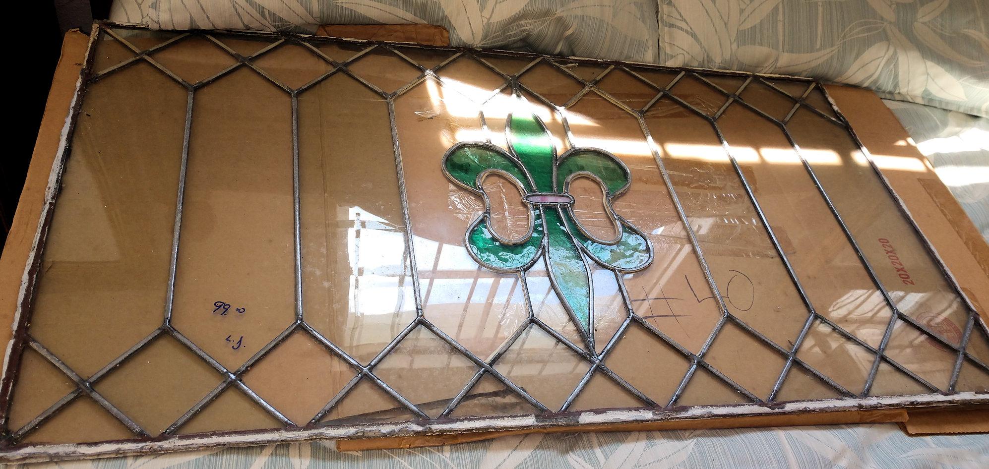 KK0131-Leaded-Glass-Panel-green
