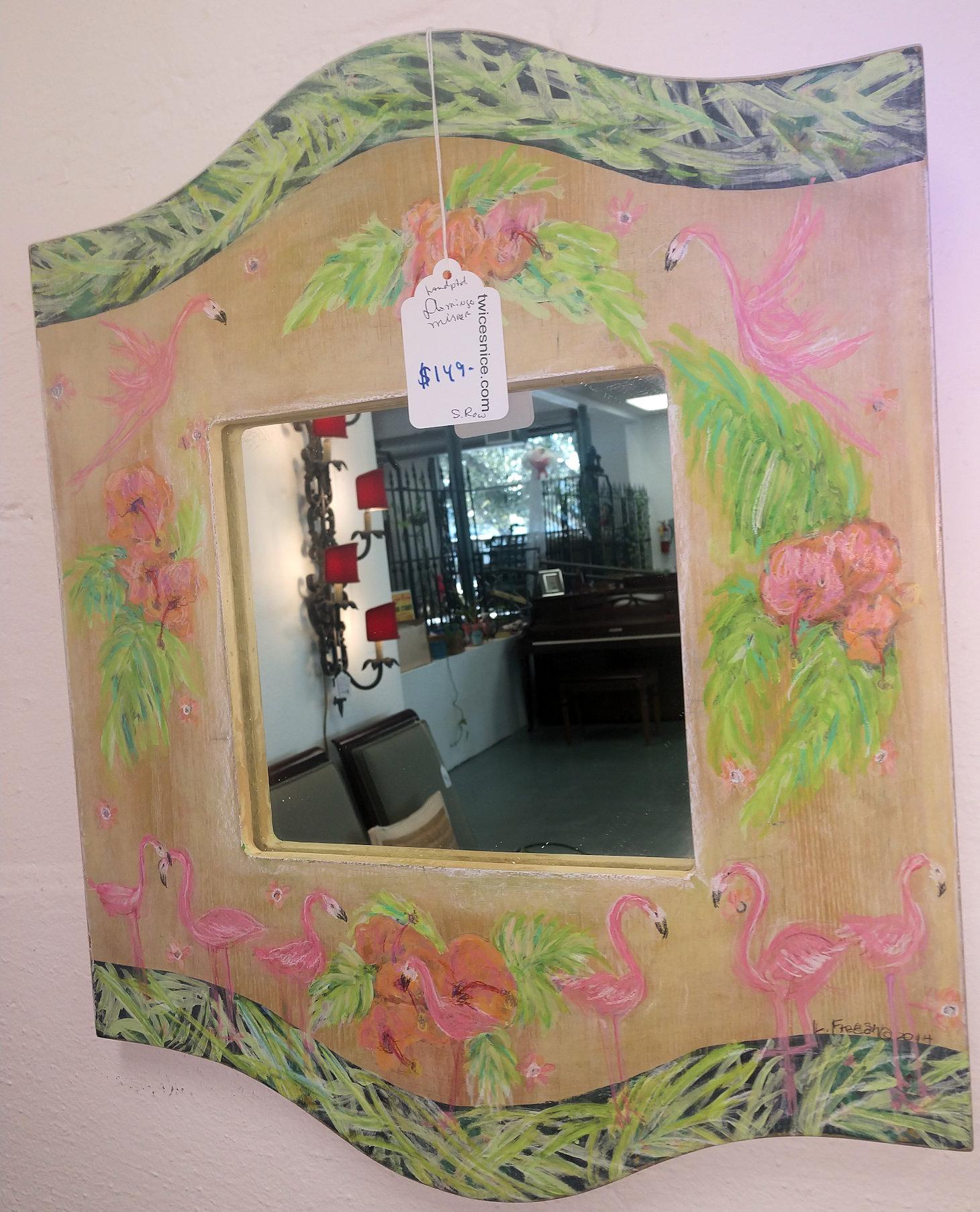 KK0133-Flamingo-Mirror