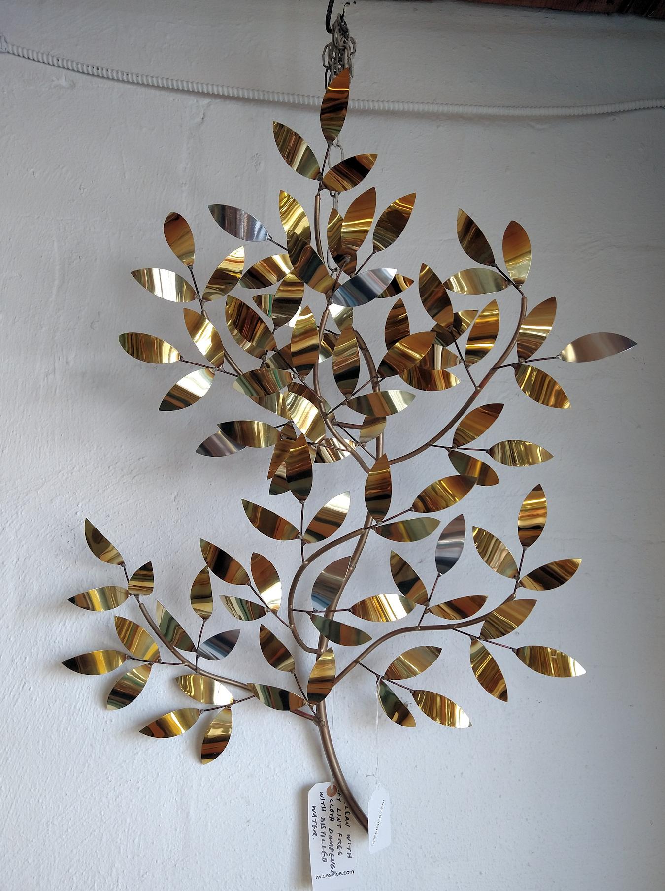 KK0186-Brass-leaves-wall-art