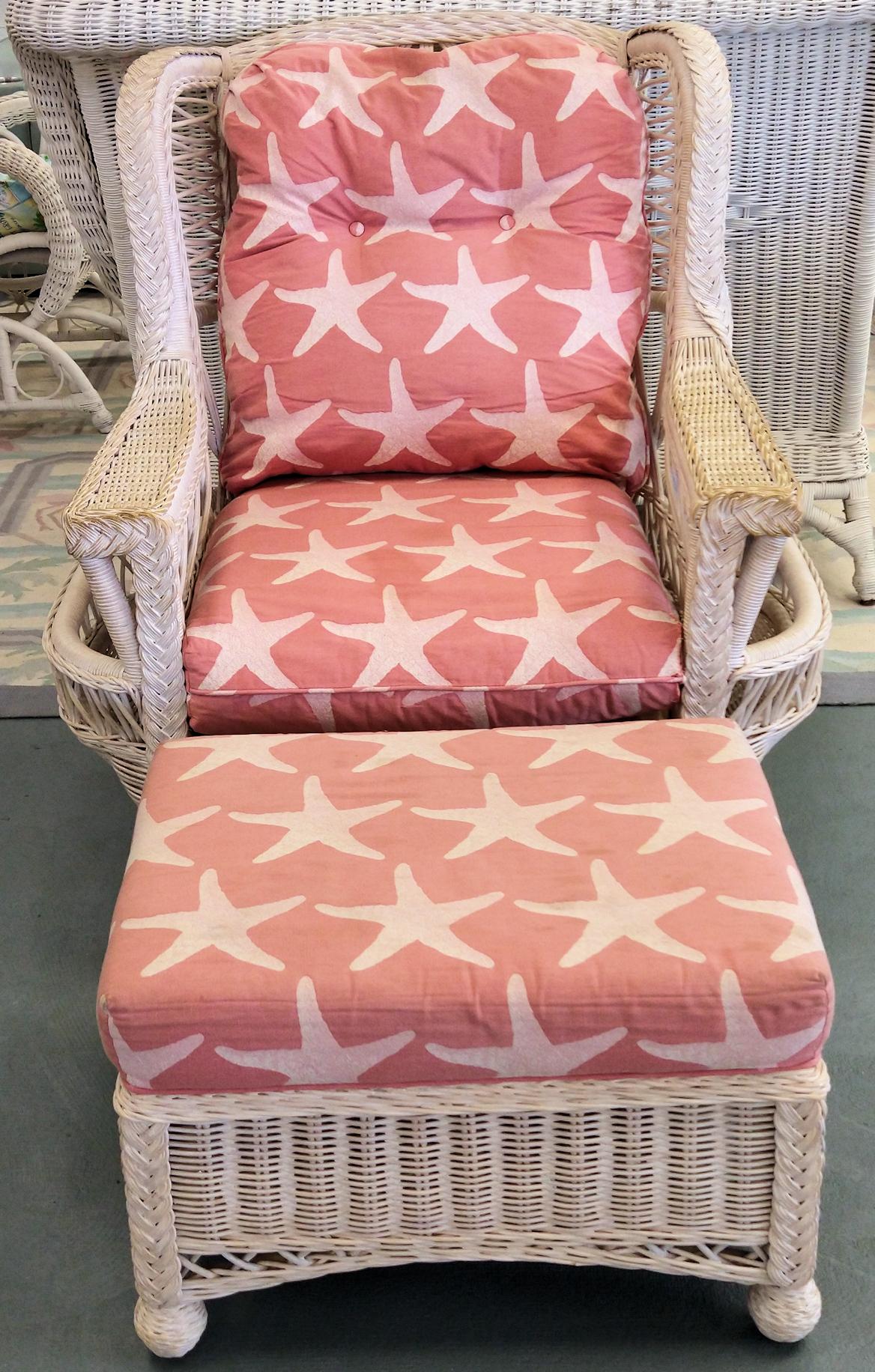 LA0066-Wicker-chair-ottoman