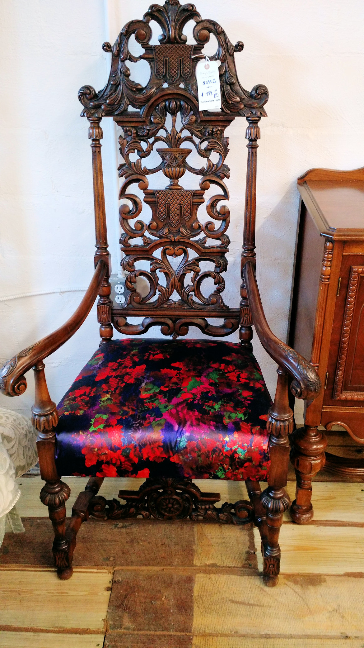 - Chairs - Ornate - Antique Queen - Only 1 Left