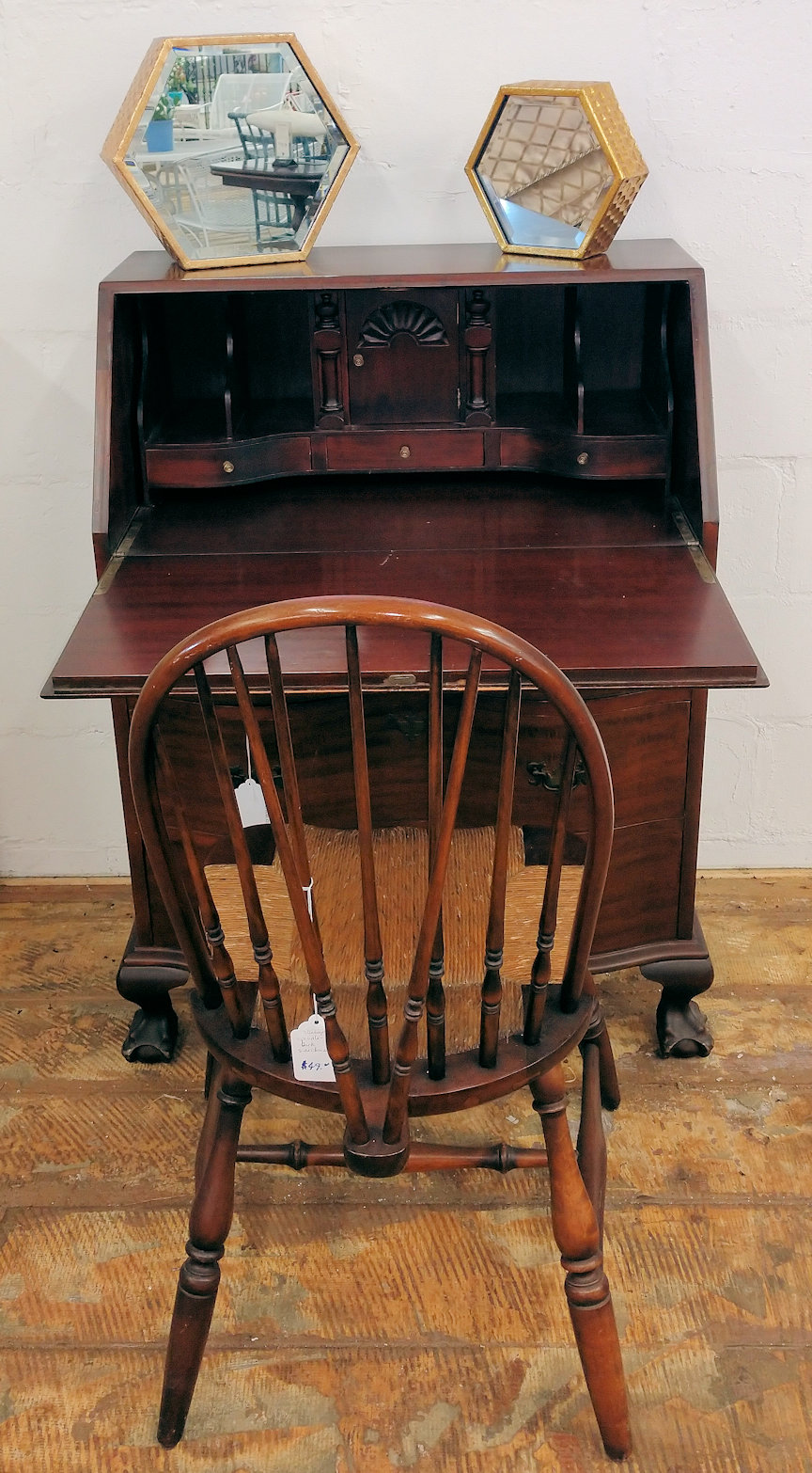 OF0015-Mahogany-dropflap-desk