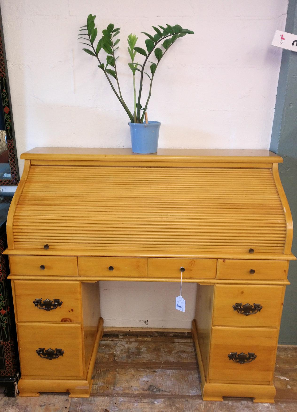 OF0017-Pine-Roll-Top-Desk