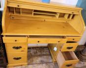 OF0017-Pine-Roll-Top-Desk-open